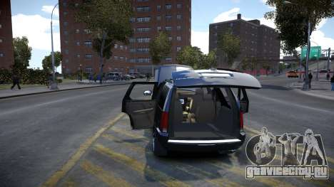 Cadillac Escalade для GTA 4 вид изнутри