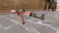 Автомат АК-47 Red urban для GTA 4