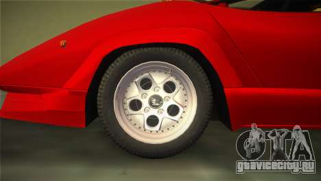 Lamborghini Countach 1988 25th Anniversary для GTA Vice City вид справа