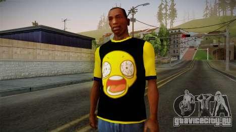 Black & Yellow T-Shirt для GTA San Andreas