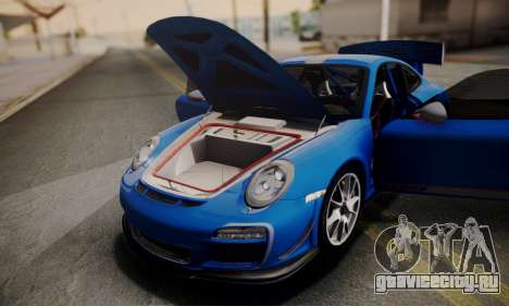 Porsche 911 GT3 RS4.0 2011 для GTA San Andreas вид сверху