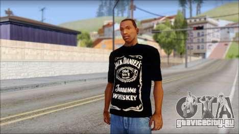 Jack Daniels Fan T-Shirt Black для GTA San Andreas