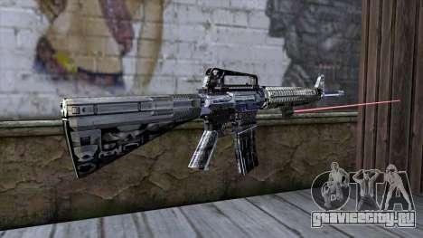 M4A1 с лазерным прицелом для GTA San Andreas второй скриншот
