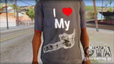 I love my gun T-Shirt для GTA San Andreas третий скриншот