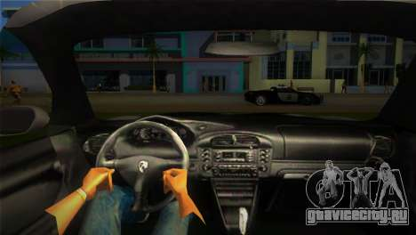 Porsche 911 GT3 Police для GTA Vice City вид сзади слева