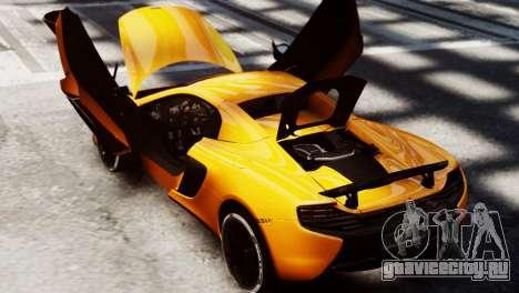 McLaren 650S Spider 2014 для GTA 4 вид справа
