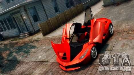 Ferrari LaFerrari для GTA 4 вид сзади