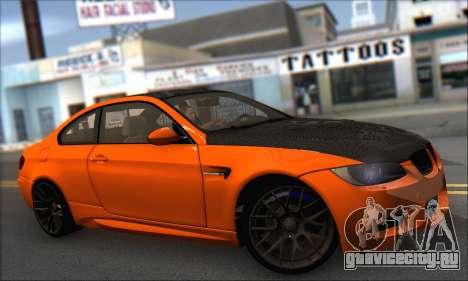 BMW M3 E92 Soft Tuning для GTA San Andreas вид сзади слева