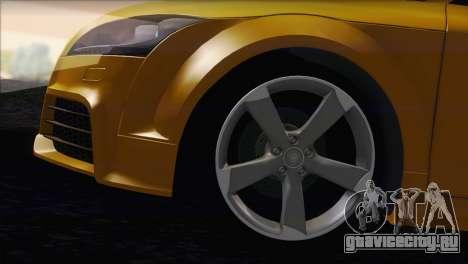 Audi TT RS v2 2011 для GTA San Andreas вид сзади слева