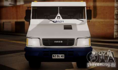Iveco Daily Brinks для GTA San Andreas вид сзади
