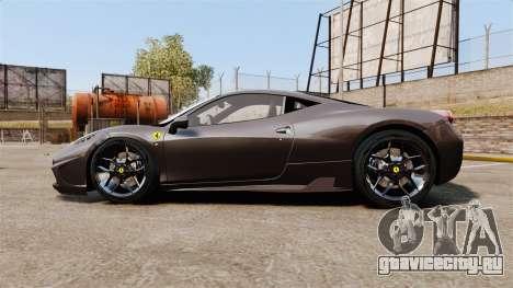 Ferrari 458 Italia Speciale Novitec Rosso для GTA 4 вид слева