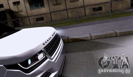 Land Rover Range Rover Startech для GTA San Andreas вид сзади