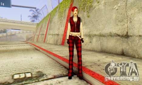 Red Girl Skin для GTA San Andreas четвёртый скриншот