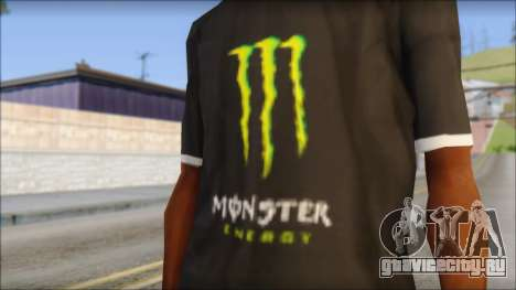 Monster T-Shirt Black для GTA San Andreas третий скриншот