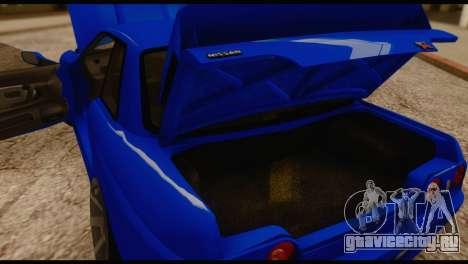 Nissan Skyline R32 для GTA San Andreas вид сзади