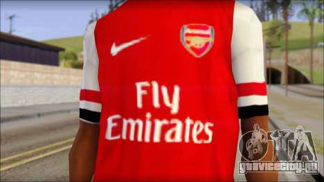 Arsenal 2013 T-Shirt для GTA San Andreas третий скриншот