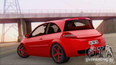 Renault Megane II HatchBack для GTA San Andreas вид слева