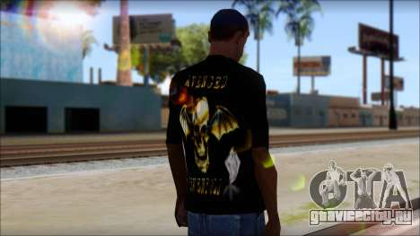 A7X Golden Deathbat Fan T-Shirt для GTA San Andreas второй скриншот