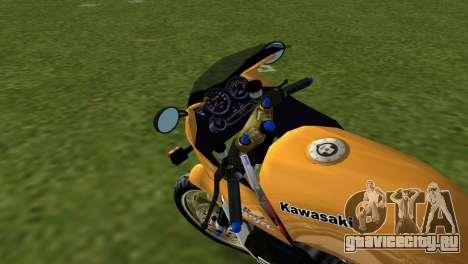 Kawasaki GPZ900R Ninja Tuned для GTA Vice City вид сзади слева