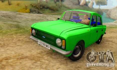 Москвич 412 [АПП] для GTA San Andreas вид сзади слева