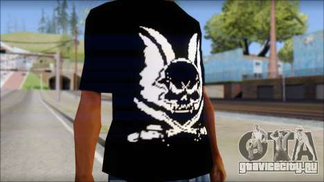 Skull T-Shirt Black для GTA San Andreas третий скриншот