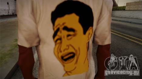 Yao Ming T-Shirt для GTA San Andreas третий скриншот