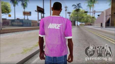NIKE Pink T-Shirt для GTA San Andreas второй скриншот