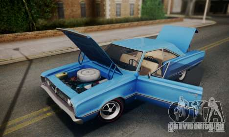 Dodge Coronet 440 Hardtop Coupe (WH23) 1967 для GTA San Andreas вид сзади