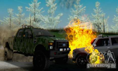 Ford F-250 Camo Lifted 2010 для GTA San Andreas вид изнутри