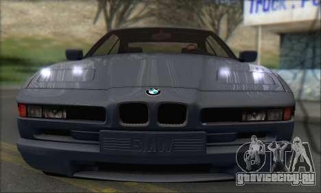 BMW E31 850CSi 1996 для GTA San Andreas вид сзади слева