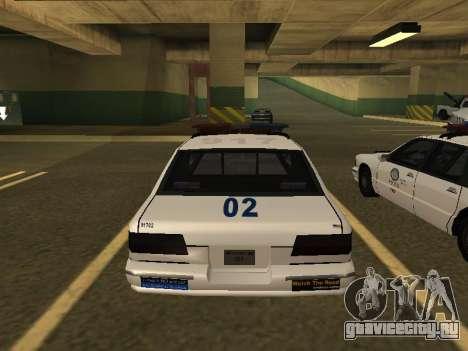 Police Original Cruiser v.4 для GTA San Andreas вид сзади