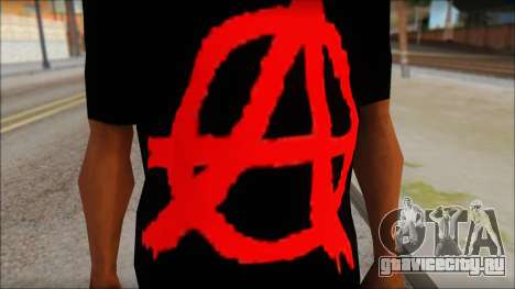 Anarhcy T-Shirt v1 для GTA San Andreas третий скриншот
