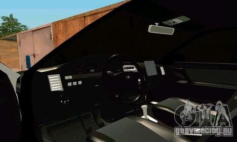 ВАЗ 21123 Turbo для GTA San Andreas вид изнутри