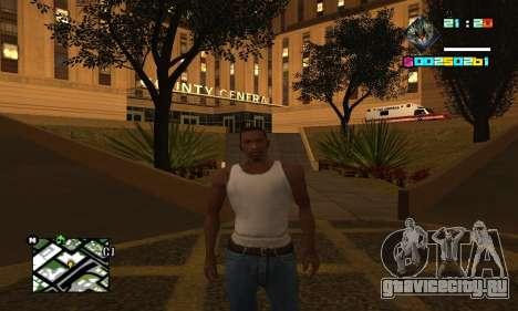 New HUD by Ptaxa1999 для GTA San Andreas