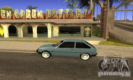 ЗАЗ Таврия для GTA San Andreas вид сзади слева