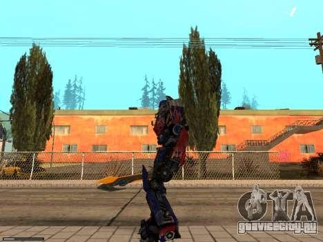 Optimus Sword для GTA San Andreas второй скриншот