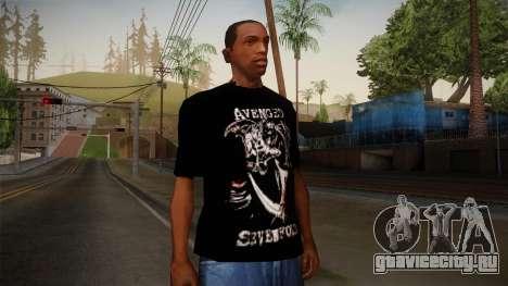 Avenged Sevenfold Reaper Reach T-Shirt для GTA San Andreas