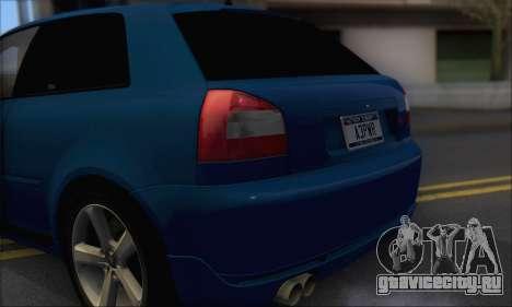 Audi A3 1999 для GTA San Andreas вид сзади