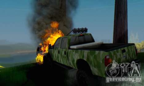 Ford F-250 Camo Lifted 2010 для GTA San Andreas вид сбоку