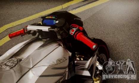 Kawasaki Z1000 2014 - The Predator для GTA San Andreas вид сзади слева