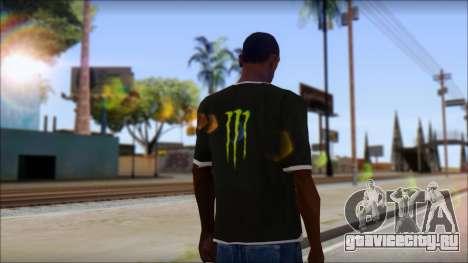 Monster T-Shirt Black для GTA San Andreas второй скриншот