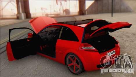 Renault Megane II HatchBack для GTA San Andreas вид сзади