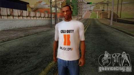 COD Black Ops II White Fan T-Shirt для GTA San Andreas