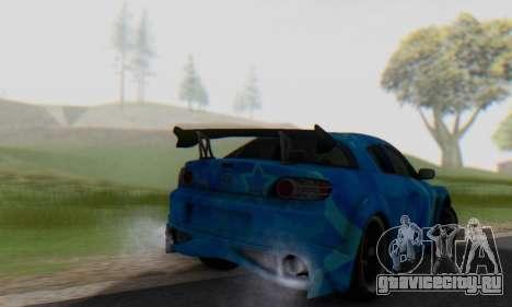 Mazda RX-8 VeilSide Blue Star для GTA San Andreas вид сзади