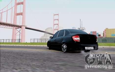 Lada 2190 Granta для GTA San Andreas вид сзади слева