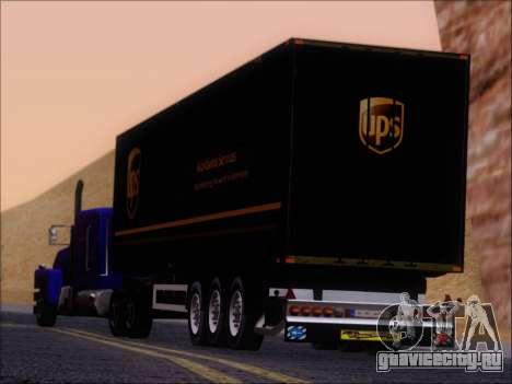 Прицеп United Parcel Service для GTA San Andreas вид сбоку