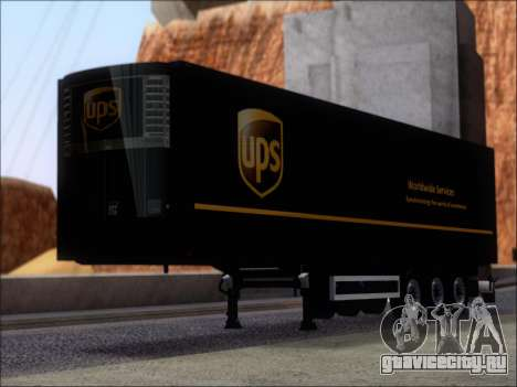 Прицеп United Parcel Service для GTA San Andreas вид слева