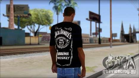 Jack Daniels Fan T-Shirt Black для GTA San Andreas второй скриншот