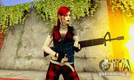Red Girl Skin для GTA San Andreas пятый скриншот