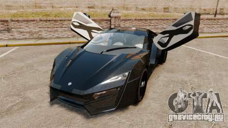 Lykan HyperSport Black для GTA 4 вид сзади